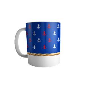 Caneca âncora navy - loja 2u presentes