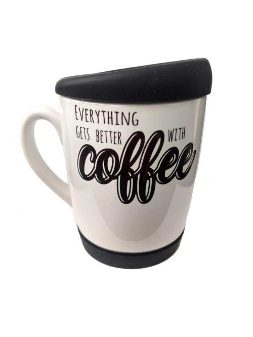 Caneca coffe com tampa